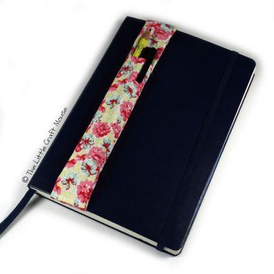 Notebook-Bookmark Pink Blue Flowers