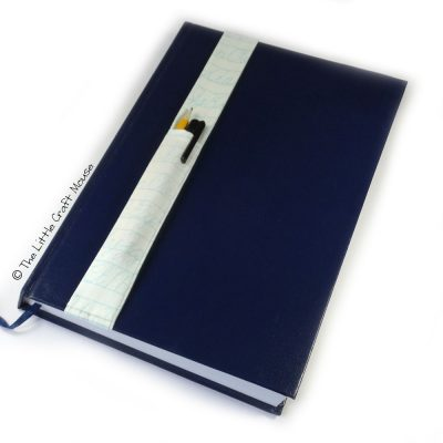 A4 Notebook Bookmark Blue Letters