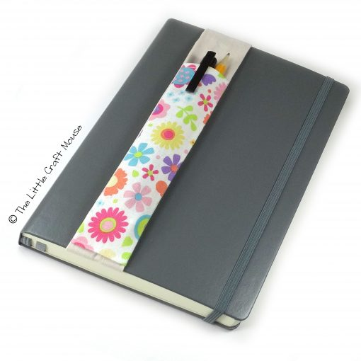Notebook Bookmark Bright Flowers on Cream