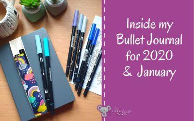 Inside my Bullet Journal for 2020 & January