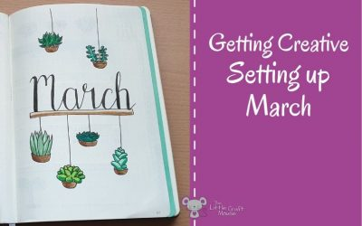 Getting Creative with my March Cover